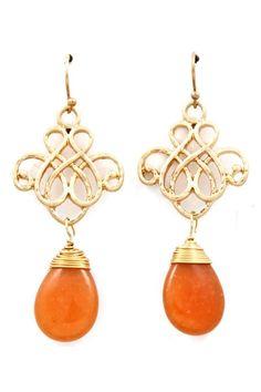 Infinity Agate Earrings