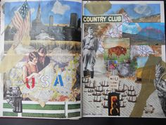 First Altered book pages in my book