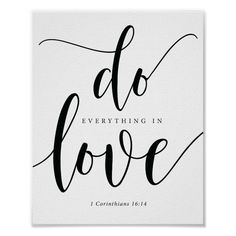 Bible Verses -  do everything in love Poster | Zazzle.com
