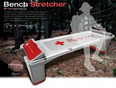 This next design is sure to bring peace of mind to those around it. The Bench Stretcher is a bench placed in mountainous regions that doubles as a stretcher in case of emergency.
