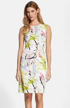 Milly Scribble Print Sheath Dress available at #Nordstrom
