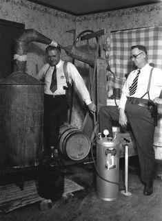 Prohibition agents with 100 gallon still. 1931.