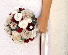 hierloom wedding  Bouquet Fabric Bridal Bouquet by MySecretFace, $190.00