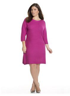 539bcd460b3b4 -Plus Size Textured A-line sweater dress Lane Bryant Women s Size 22 24