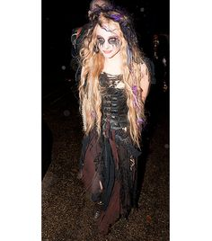 Chloe Grace Moritz WHAT: At the 2012 Jonathan Ross Halloween Party in London. WEAR: The Carrie star looked straight up scary as a deranged w...