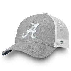 979d40397e08b Alabama Crimson Tide Fanatics Branded Lux Slate Trucker Snapback Adjustable  Hat – Gray White