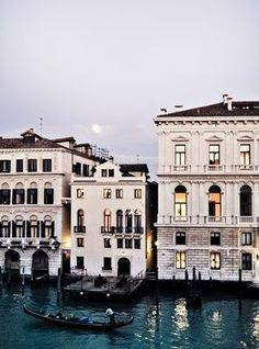 The beautiful canals in Venice