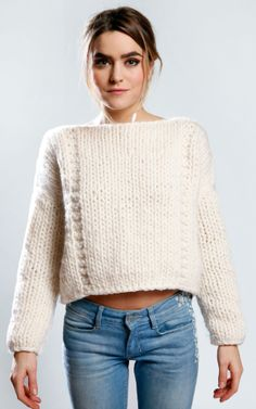 Handknitted Wool Sweater | DIY Style Ideas - Lillium Sweater by Morgane Mathieu for We Are Knitters