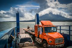 "Picture taken at the ferry in front of ""Isla Ometepe"", Nicaragua. You can see the volcano ""Concepción""."