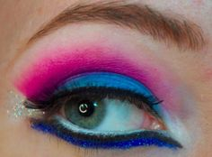 Cyber Goth/Electro Cotton Candy Rave http://www.makeupbee.com/look_Cyber-GothElectro-Cotton-Candy-Rave_31449