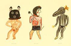 Hopi Drawings of Kachinas (1903)