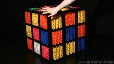 Giant Rubik's Cube Solved