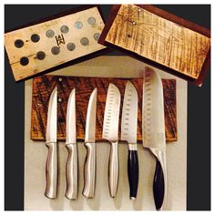 Magnetic Knife Holder, made from pallet wood.