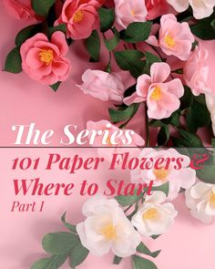 "Hi there, I have an amazing post for you today! I collaborated with ""THE BEST"" paper flower smiths to bring you a series of blog posts, called: 101 Paper Flowers & Where to Start - Part I. This series will introduce you to some of the most incredible and talented paper flower pro's out there."