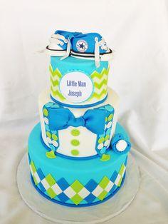 Little man 1st birthday cake