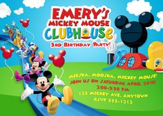 Mickey Mouse Clubhouse Invitation Free