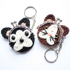 Ravelry: Bulldog and Cat coin purse pattern by A la Sascha