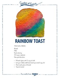 Trendy rainbow art for kids preschool food coloring Ideas