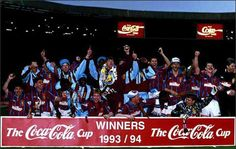 1994 League Cup winners partying on the hallowed Wembley pitch after despatching Man Utd 3 - Aston Villa Players, Team Games, Great Team, Pitch, Football, Club, Soccer, Futbol, American Football