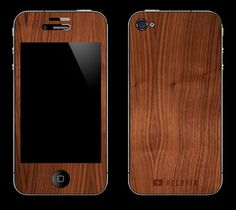 I just got this for my phone, but I only put on the front so I could still use my clear case. Blending tech and natural materials always makes me smile Iphone 4, Iphone Cases, Ecommerce Software, Iphone Accessories, Finding A House, Selling Online, Natural Materials, Pretty Cool, Gadgets