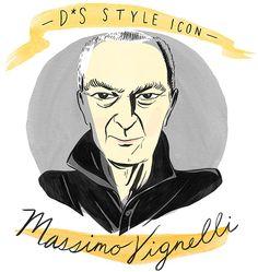 Design*Sponge Style Icon | Massio Vignelli (Illustration by Libby Van der Ploeg)