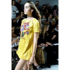 Dress inspired by Le Cyclop one of Niki de Saint Phalle's monumental artworks.  #DiorSS18 #PFW @dior #dior #zoomagazine #mariagraziachiuri #parisfashionweek #fashion #fashionweek #paris #model #yellow #sequindress  via ZOO MAGAZINE OFFICIAL INSTAGRAM - Celebrity  Fashion  Haute Couture  Advertising  Culture  Beauty  Editorial Photography  Magazine Covers  Supermodels  Runway Models