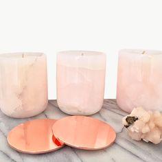 PINK ONYX Precious Stone Candle | dosombre.com