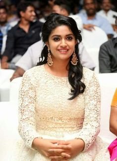 Keerthi Suresh at Rail Audio Launch South Indian Actress, Beautiful Indian Actress, Beautiful Actresses, Cute Celebrities, Indian Celebrities, Indian Wedding Gowns, Lehenga Gown, Anarkali, Bollywood Actress Hot Photos