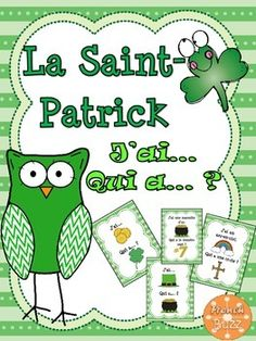 """"""" game on St. Foreign Language Teaching, Dual Language, Teaching Music, Teaching Resources, Teaching Activities, School Resources, How To Speak French, Learn French, St Pattys"""