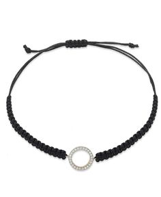 YellOra Diamond Circle Parachute Cord Bracelet in YellOra (1/6 ct. t.w.)