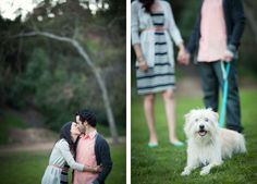 Couple photos shoot with dog