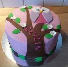 Owl Eule Fondant cake Ceylins 7. Geburtstag
