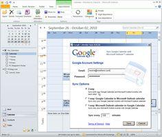 Synch Your Outlook Calendar with Your Google Calendar