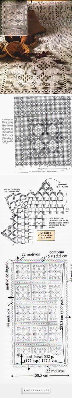 tejidos artesanales en crochet: cubre cama sueños dorados - created via http://pinthemall.net