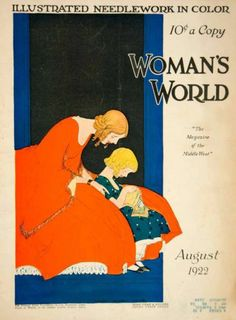 1922 Cover Womans World Maginel Wright Enright Art Deco Knitting Needlework Sew