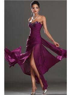 Elegent Sheath Sweetheart Split Front Evening Dress