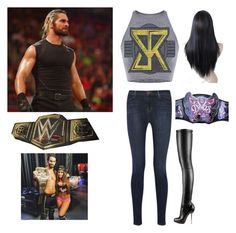 """Miss Seth Rollins"" by h3llokittyland ❤ liked on Polyvore featuring J Brand, Christian Louboutin, women's clothing, women's fashion, women, female, woman, misses, juniors and WWE"
