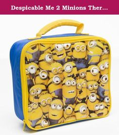 "Despicable Me 2 Minions Thermobag. Despicable Me 2 Minions Thermobag yellow- blue, 100% polyester Me want Banana! A really cute thermobag, for all minon fans. The bag does not only look cool but it can be used to keep food warm or cold. It has a handel and a zipper. Product detail: Despicable Me 2 ""minions"" thermobagOriginal ""Despicable Me 2"" product Cooling/warming bag Color: Blue, Yellow Material: zipper made of PVC, bag made of 100% polyester Size: 24x8x22cm Perfect lunch bag."