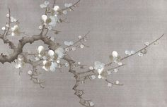 Prunus - jericho ~ Wallpaper by Fromental Chinese Painting, Chinese Art, Chinoiserie, Handmade Wallpaper, Diy Bed Frame, Art Japonais, Paint Background, Easy Diy Crafts, Asian Art