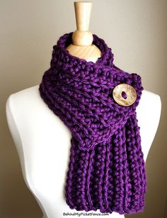 New Color - WEST BAY SCARF in  Purple by www.BehindMyPicketFence.com