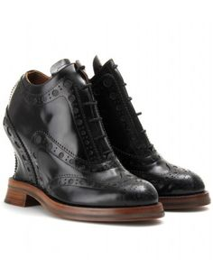 mytheresa.com - Acne - COVERED WEDGE BROGUES - Luxury Fashion for Women / Designer clothing, shoes, bags - StyleSays