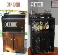 DIY Bar-great possibilities (craigslist??) would love for your bar to be wider, though.