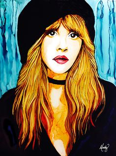 """Wild Heart"" - Stevie Nicks portrait - alcohol inks on x Yupo by Monica Moody Buckingham Nicks, Drawing Tutorials For Beginners, Crazy Women, Stevie Nicks Fleetwood Mac, Music Artwork, Alcohol Ink Art, Punk, Belleza Natural, Concert Posters"