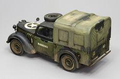 Austin Tilly – Joaquín García Gazquez – A Modelling View Truck Scales, Custom Hot Wheels, Diorama Ideas, Arte Horror, Art Model, Tamiya, Scale Models, Military Vehicles, Wwii