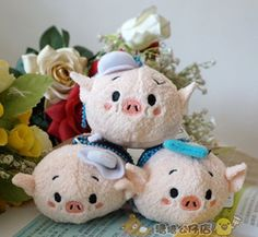 Online Shop Free Shipping TSUM 3 Little Pigs 3pcs Lot RARE Collection Mobile Screen
