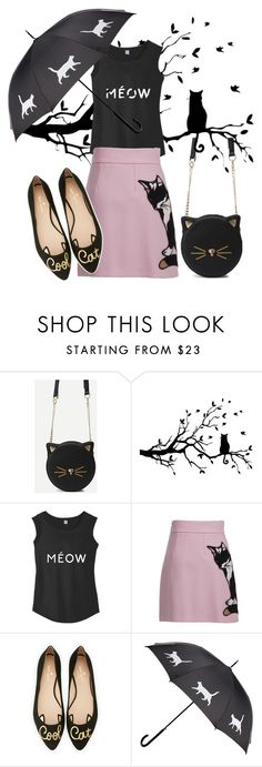 """cat chic"" by tarparamu on Polyvore featuring MSGM and Kate Spade"