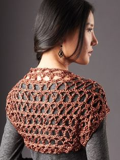 Touch of Shine Shrug: free pattern