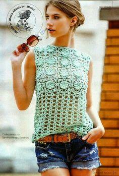#crochet Três Blusas lindas para o Verão! - Tecendo Artes em Crochet