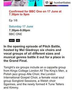 'There it is in print! NEXT SATURDAY SONGBIRD SESSIONS on your television #pitchbattle #nextsaturday #firstepisode #choir #soul #girlpower #eventprofs #instamusic #bbcone #primetime #missitmissout' by @sessionsongbird. What do you think about this one? @republicofphotography @zest.mixology @brunchandslay @thebulbldn @ellie_leva_events @audienceldn @frankiesense @the_dg_designer @thisweekinweddings @winendinem @eventprophire @edt_eventos @fabulatorij.agency @eplannershub @spread_london…