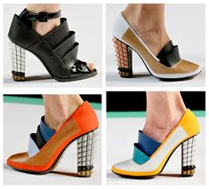 Fendi shows its Spring/Summer 2013 Shoes at the Karl Lagerfeld-designed Fashion Show